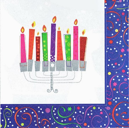Playful Menorah Beverage Napkins **CLEARANCE**