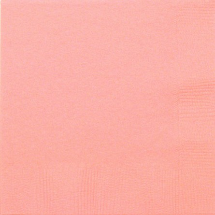 Pink 3-Ply Beverage Napkins (50) **CLEARANCE**