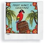 "Pirate ""Polly Want A Cocktail"" Beverage Napkins (24)"