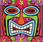 Tiki Time Beverage Napkins (16)