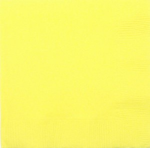 Light Yellow Beverage Napkins (50)