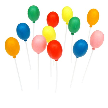 "7.5"" Single Plastic Balloon Party Picks (12)"