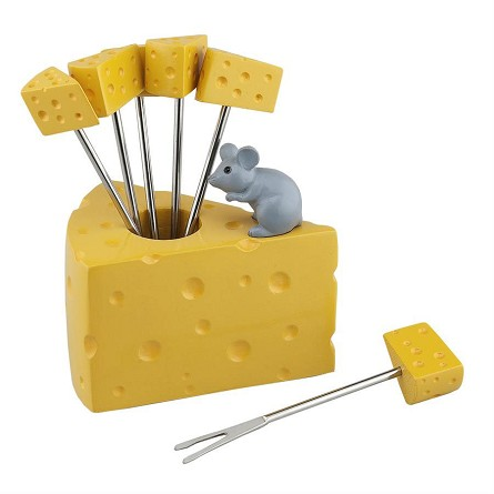 Cheese & Mouse Party Fork Set (6)