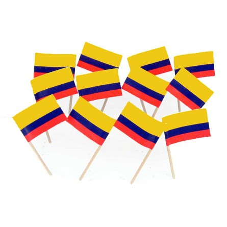 Colombia | Colombian Flag Toothpicks (100)