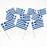 Greece | Grecian | Greek Flag Toothpicks (100)