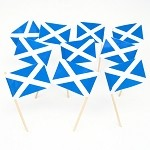 Scotland | Scottish St Andrews Cross Flag Toothpicks (100)