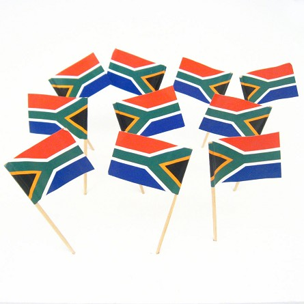South Africa | South African Flag Toothpicks (100)