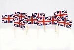 UK Flag Toothpicks (100)