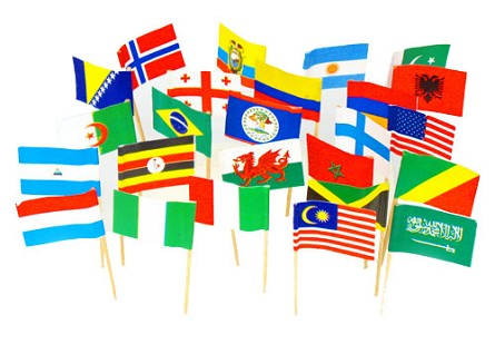 Assorted Country Toothpick Flags of the World (100)