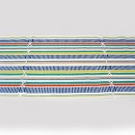 Cheerful Striped Ribbed Table Runner