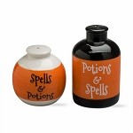 Halloween Potions & Spells Salt & Pepper Shakers