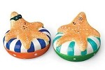 Whimsical Starfish On Floats Salt & Pepper Shakers