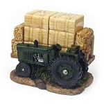Green Tractor With Hay Bales Salt & Pepper Shakers
