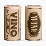 Wine Cork Shaped Salt & Pepper Shakers