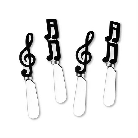 Musical Notes Handle Spreaders (4 assorted)
