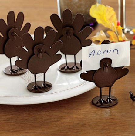 Metal Turkey Place Card Holders Unique Thanksgiving