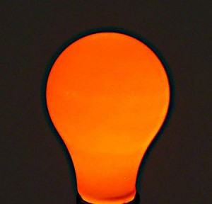 Orange Light Bulb - 60W Painted Ceramic