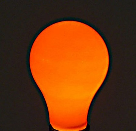 Bulbrite Orange Light Bulb - 60W Painted Ceramic