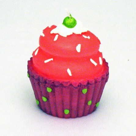 Colorful Cupcake Candle