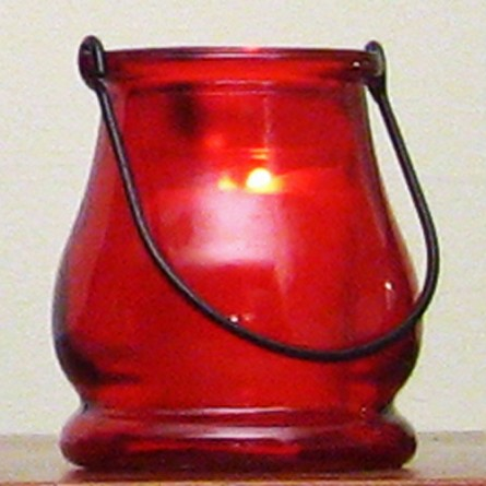 Red Mini Lantern Candle Holder