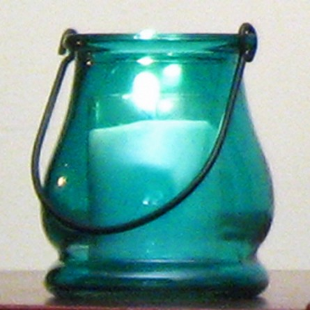Teal Mini Lantern Candle Holder