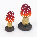 Set of 2 Decorative Mushroom Candles