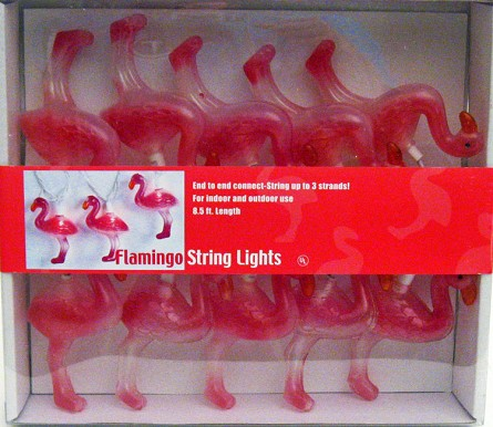 Kitschy & Stylish Pink Flamingo String Lights Hot Pink Party Decorations