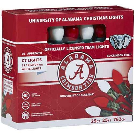 University of Alabama C7 Colored Bulb String Lights
