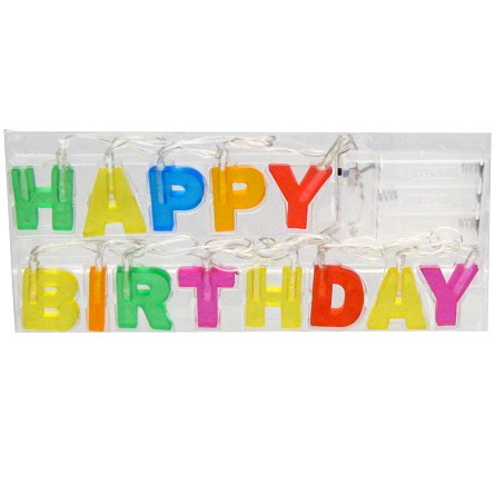 4-Foot Light-Up 'HAPPY BIRTHDAY' String Light Banner