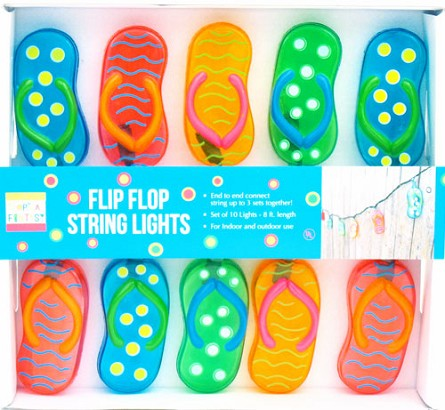 Vibrant Flip Flop String Lights