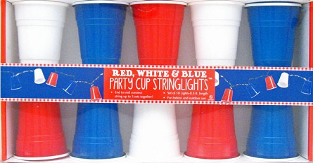 Red, White & Blue Party Solo Cup String Lights