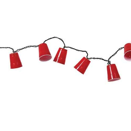 Party Cup String Lights : Red Party Cup Electric String Lights Tailgating Collegiate Party Supplies