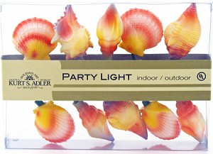 Realistic Looking Sea Shell String Lights Conch & Scallop Shells Beach & Sea Decorations
