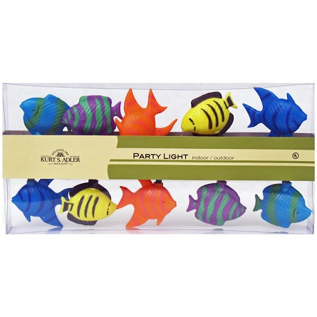 Whimsical tropical fish electric string lights under the for Fish string lights