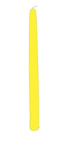 "Yellow Taper Candle 12"" - Unscented (1)"