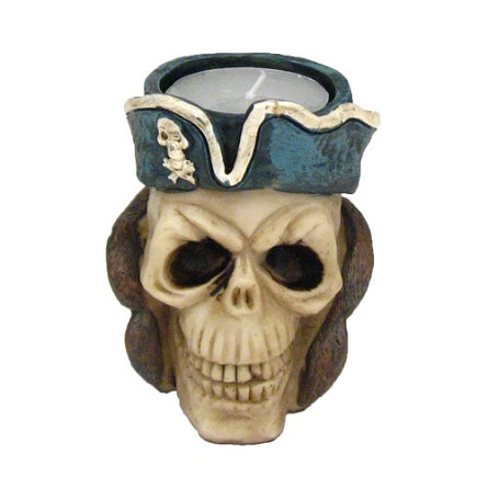 Pirate Skull Tealight Candle Holder - 3 styles **CLEARANCE**