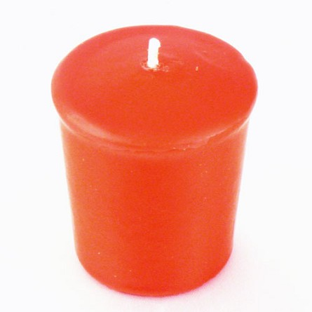 Brick Red Votive Candle - 15 hr, Unscented, Flared