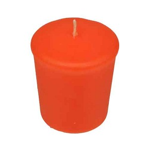 Orange Votive Candle -15 hr, Unscented, Flared