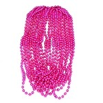 Hot Pink Metallic Beads