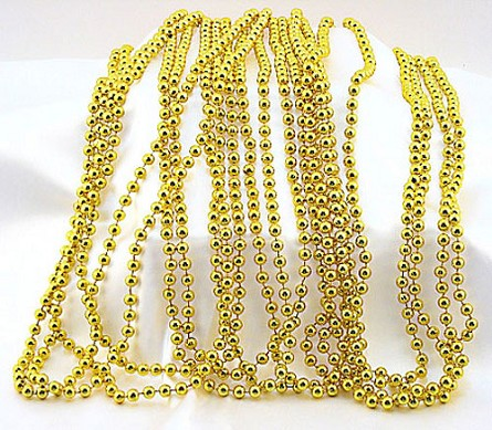 "33"" 7mm Yellow Gold Metallic Beads (12)"