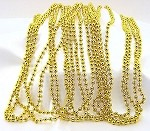 Yellow Gold Metallic Beads