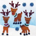 Rudolph & Friends Window Gel Clings