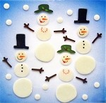 Snowman Couples Window Gel Clings  ** DISCONTINUED **
