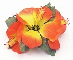 Hawaiian Silk Hibiscus Hair Clip Flower