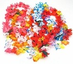 Multicolored Silk Flower Hawaiian Lei