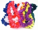 Hawaiian Silk Flower Lei - Assorted Colors