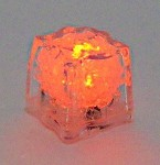 Orange LED Ice Cube