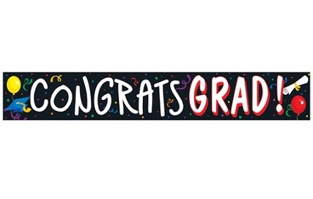 20-Foot CONGRATS GRAD Plastic Party Tape