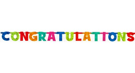 7.5-Foot CONGRATULATIONS Letter Banner **CLEARANCE**