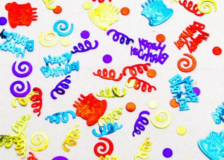 Birthday Party Confetti - Cakes & Streamers